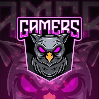 I giocatori sport mascotte logo design Vettore Premium