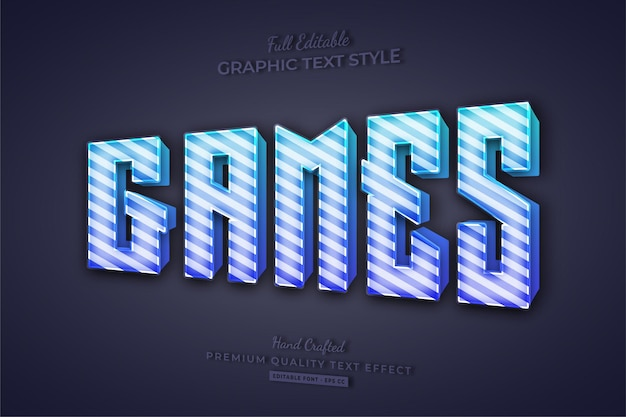 Giochi candy gradient editable text effect font style