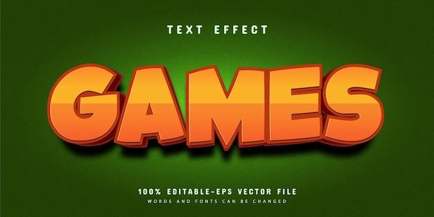 Giochi fumetto modificabile stile carattere effetto testo