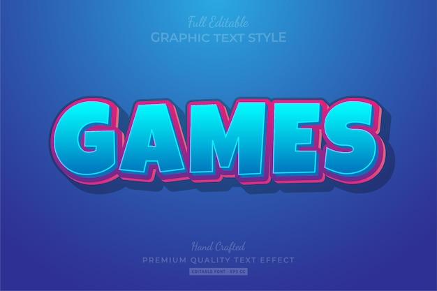 Giochi cartoon modificabile effetto testo stile carattere