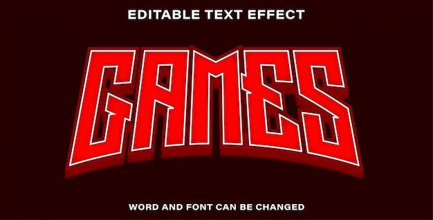 Giochi modificabili effetto testo