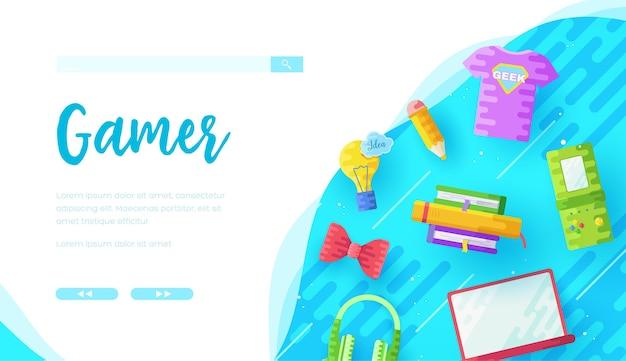 Modello di pagina di destinazione del negozio online di giochi