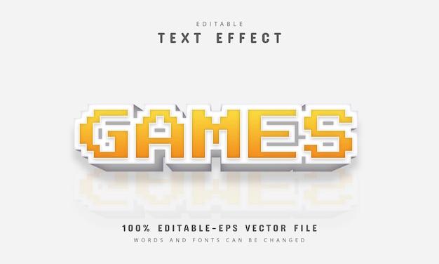 Effetto di testo pixel di giochi
