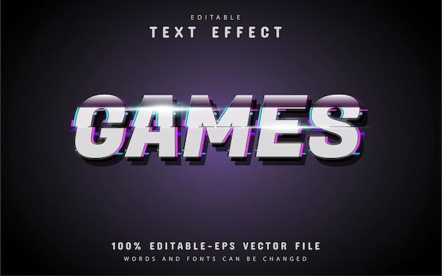 Stile glitch effetto testo giochi
