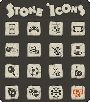 Icone web di giochi per la progettazione dell'interfaccia utente