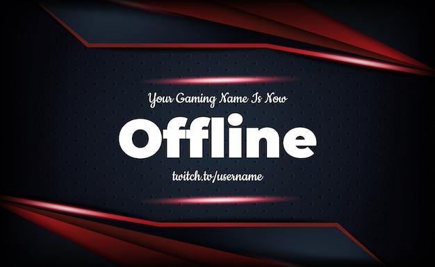 Sfondo di gioco per twitch stream offline