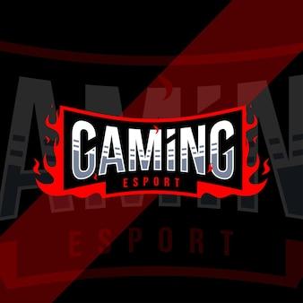 Design del modello logo esport di gioco