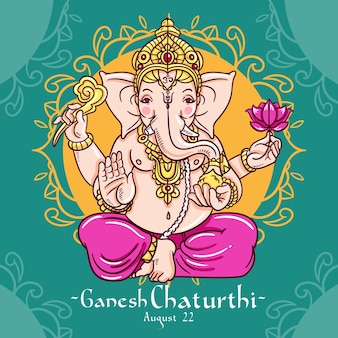Ganesh chaturthi drawing