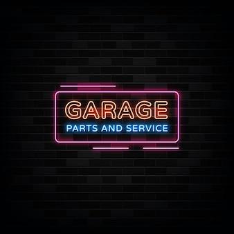 Insegne al neon di servizio auto garage