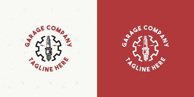 Modello di progettazione di logo di garage