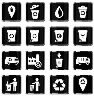 Simbolo di spazzatura semplicemente per le icone web