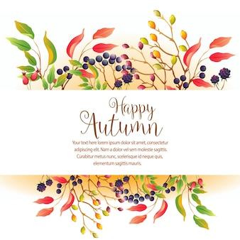 Giardino d'autunno con pianta di stagione