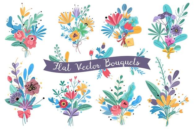 Illustrazione di fiori che sbocciano giardino
