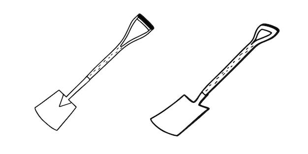 Forchette da giardino. illustrazione vettoriale