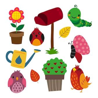 Raccolta di icone del giardino
