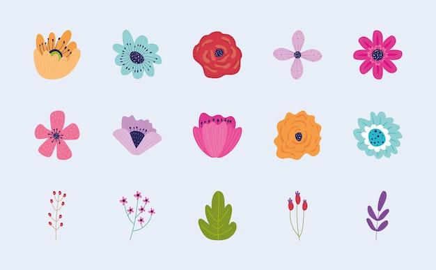 Set di icone del giardino