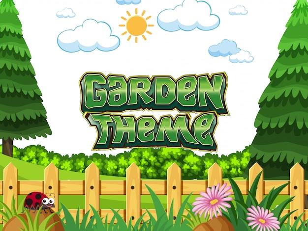 Scena del concetto di tema giardino