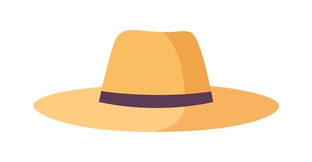 Cappelli di paglia del giardiniere, dell'agricoltore o del lavoratore agricolo isolati su white