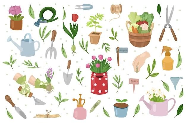 Collezione di giardinaggio