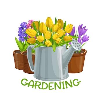 Giardinaggio con i fiori