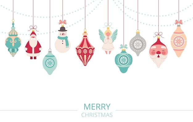 Ghirlanda di decorazioni natalizie