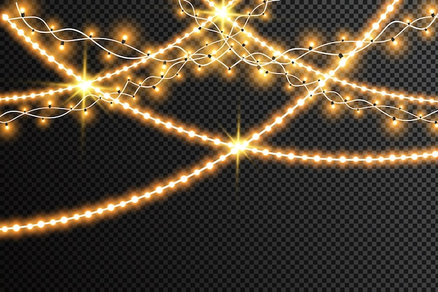 Ghirlande decorazioni natalizie effetti luci