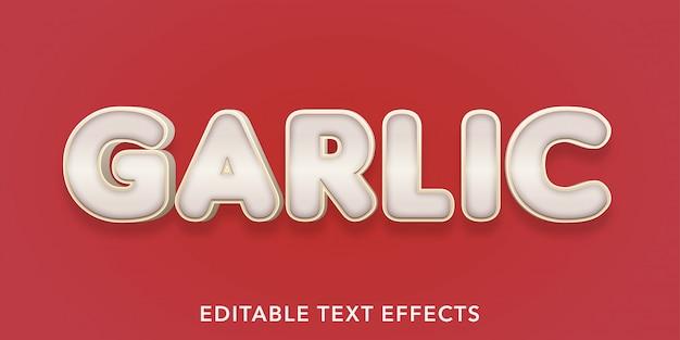Effetti di testo modificabili all'aglio