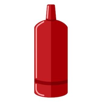 Bombola del gas isolata su sfondo bianco. contenitore rosso dell'icona della bottiglia di propano in stile piano. illustrazione contemporanea di vettore di stoccaggio del combustibile della bombola.