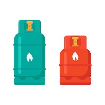 Illustrazione vettoriale di bombola di gas su sfondo bianco