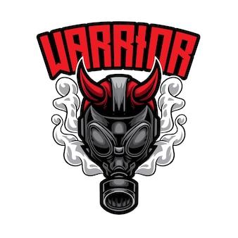 Logo di gas man warrior esport
