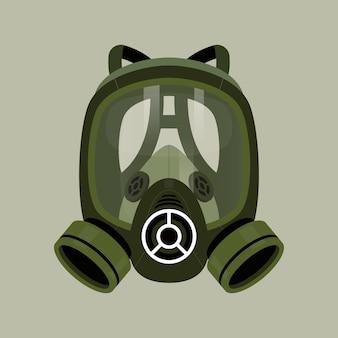 Concetto di respiratore maschera antigas