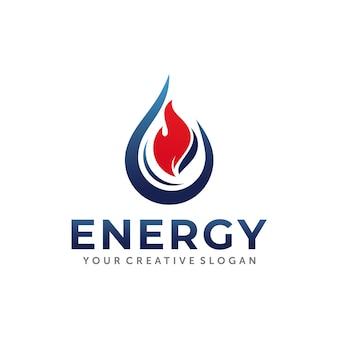 Design del logo di gas e petrolio