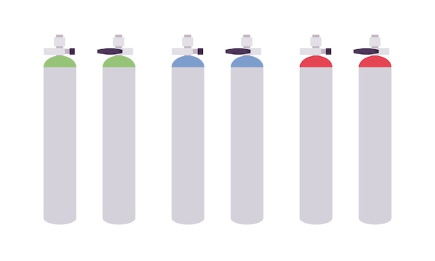 Set di serbatoi di gas