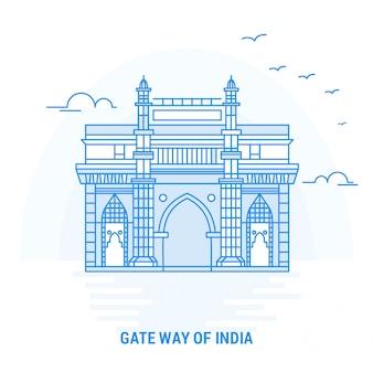 Gate way of india blue landmark
