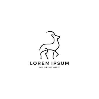 Gazelle impala logo line art