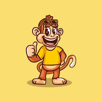 Logo del personaggio scimmia geek
