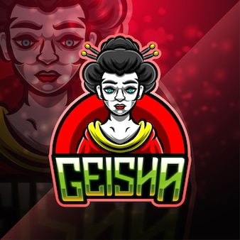 Geisha sport mascotte logo design