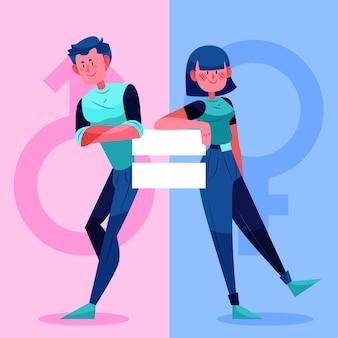 Illustrazione di uguaglianza di genere