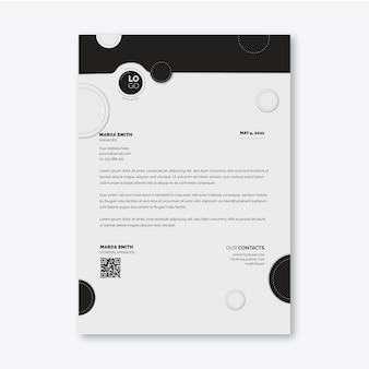 Modello di carta intestata aziendale generale