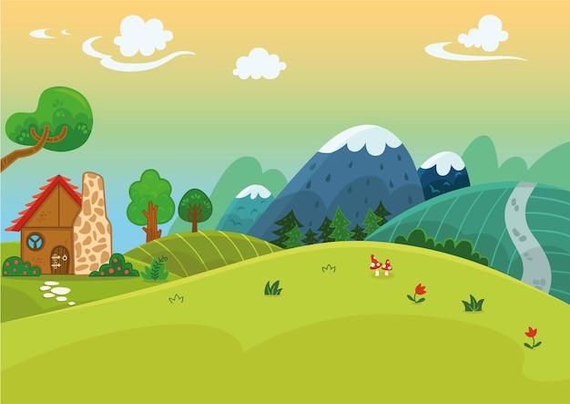 Per uso generale cartoon landscape vector illustration
