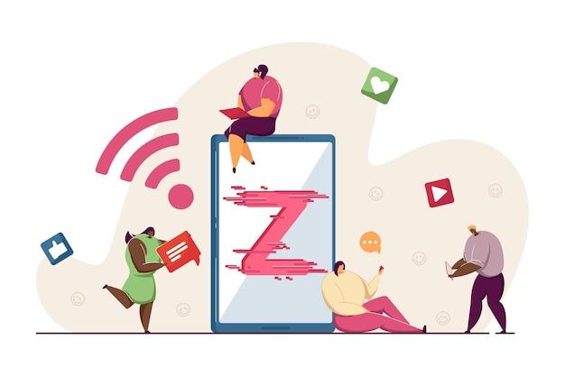 Generazione z utilizzando la tecnologia