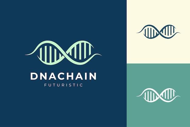 Logo genetico a forma di catena del dna