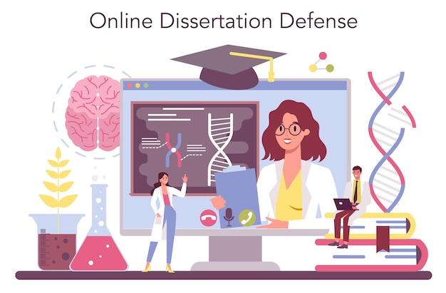 Piattaforma o servizio online di genetista. medicina e tecnologia scientifica.