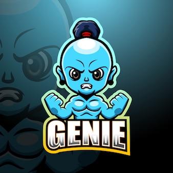 Illustrazione di esportazione mascotte dei genii