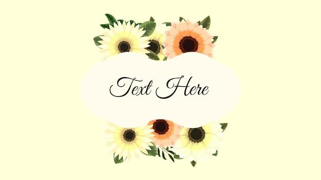 Dolce cornice floreale primaverile con fiori biglietto di auguri vintage matrimonio social media
