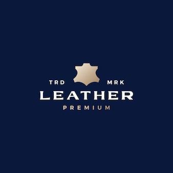 Vera pelle cento per cento 100 logo icona vettore illustrazione Vettore Premium