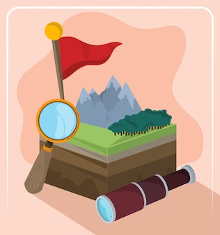 Indicatore di paesaggio geografico
