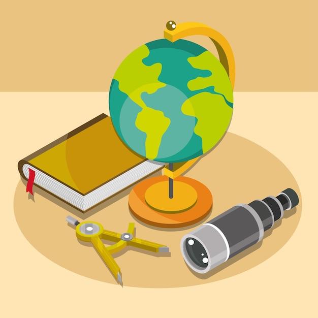 Libro di mappe geografiche