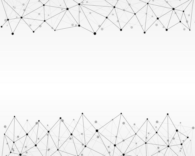 Fondo astratto geometrico con linea e punti collegati.