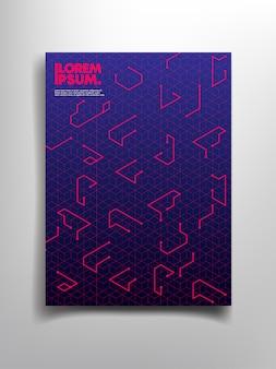 Geometrico astratto con copia spazio